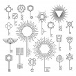 Linear key set, hipster style — Stock Vector #73867003