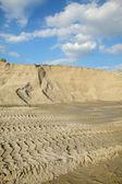 Sand exploiting — Stock Photo