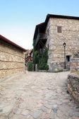 Old Platamonas village, Greece Olympus mountain — Stock Photo