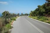 Mountain road in Greece, Olympus region — Stock Photo