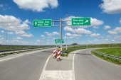 Highway crossroad in Serbia — Stock Photo