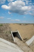 Agriculture, new irrigation channel — Stock Photo