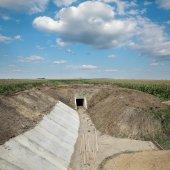 Tarım, yeni sulama kanalı — Stok fotoğraf