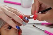 Beauty treatment of fingernails — Stock Photo