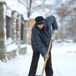 Winter time, snow removing — Stock Photo #61281761