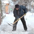 Winter time, snow removing — Stock Photo #61281781