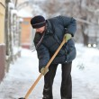 Winter time, snow removing — Stock Photo #61281817