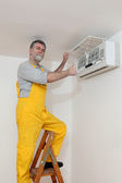 Air condition examine or install — Stock Photo