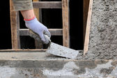 Staircase making at construction site — Stock Photo