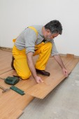 Laminate flooring of room — Stock Photo