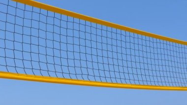 Yellow net and blue sky — Stock Video