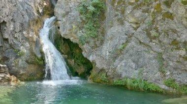 Waterfall at Olympus Mountain, Greece — Stock Video