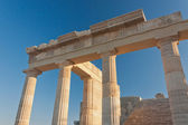 Columns of аncient пreek acropolis — Stock Photo