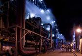 Night scene in power station — Stock Photo
