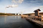 The power station Prunerov — Stock Photo