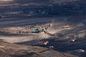 The excavator in coal opencast — Stock Photo