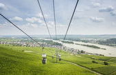 Cable Cars at Rudesheim — Stock Photo