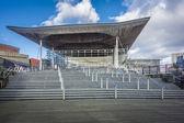 Welsh Assembly gebouw op Cardiff Bay, Verenigd Koninkrijk — Stockfoto