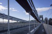 Steel Cables of Clifton Suspension Bridge, Bristol, UK — Stock Photo