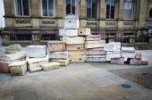 Hope Street 'Suitcases', Liverpool — Foto Stock