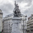 Statue of Maréchal Moncey in Place de Clichy, Paris, France — Stock Photo #70201403