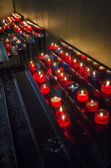 Red Candles Alight — Stock Photo