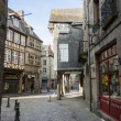 Постер, плакат: Medieval Cobbled Street in Dinan Brittany France