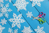 Snowflake Paper Crafts — Stock Photo