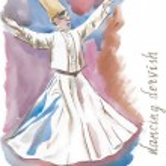 Dancing dervish watercolor — Stock Vector #77911156