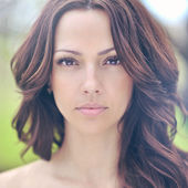 Twarz piękną kobietą. doskonałej skóry — Zdjęcie stockowe