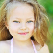 Sweet little girl portrait outdoors — Stock Photo #57832959