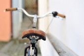 Back of an old bicycle — Stock Photo