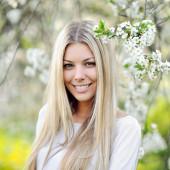 Closeup of beautiful woman face — Stock Photo
