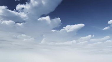 Timelapse clouds background 3d animation — Stock Video