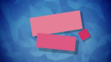 Solid elements for titles flat animation on blue background — Stock Video