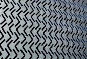 Perforated metalic panel 3d model — Stock Photo
