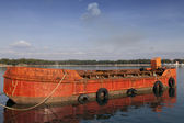 Old red cargo ship — Стоковое фото