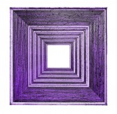 Frame picture purple over white — Stock Photo