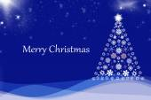 Christmas background with Christmas tree, — Stock Photo