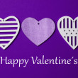 Valentines day background with hearts — Stock Photo #60076937