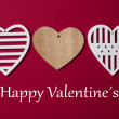 Valentines day background with hearts — Stock Photo #61778677