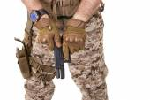 Soldier man in camouflage uniform. — Stockfoto
