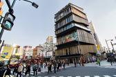 Tokyo, Japan - November 21, 2013: Unidentified tourists around Asakusa Culture Tourist Center — Stock Photo