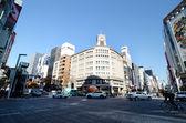 Tokyo, Japan - November 26, 2013:  Tourist visit Ginza crossroad in Tokyo — Stock Photo