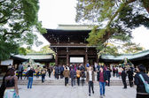Tokyo, Japan - November 23, 2013 : Tourist visit Meiji Jingu Shrine in Yoyogi Park — Stock Photo