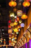 Renkli mozaik lambalar — Stok fotoğraf