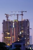 Building Under Construction, Twilight time — Stock Photo