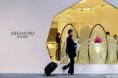 日本东京-2013 年 11 月 26 日: 人在银座地区现代建筑购物 — 图库照片