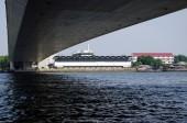 Rama VIII bridge over the Chao Praya river in Bangkok — Stock Photo