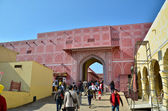 Jaipur, India - December 29, 2014: People visit The City Palace  — Stock Photo